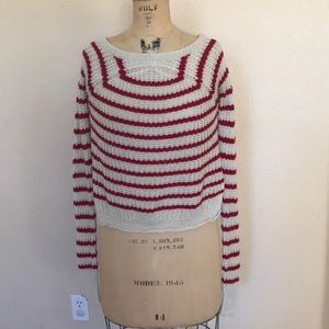 Wet Seal Cropped Striped Sweater S